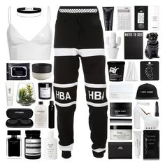 """16:31"" by svga-kookie ❤ liked on Polyvore featuring Agent Provocateur, Hood by Air, Jeffrey Campbell, philosophy, Cleanse by Lauren Napier, Aesop, Acne Studios, GHD, Chanel and Oribe"