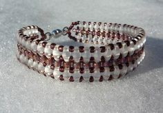 Elegant SuperDUO bracelet Beadwork, Beaded Bracelets, Pendants, Elegant, Earrings, Accessories, Jewelry, Bracelet, Classy