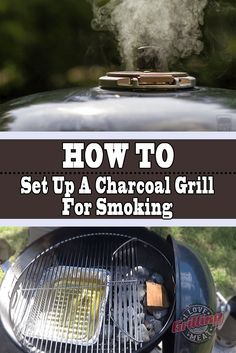 Smoking meat is awesome, but not everyone owns a smoker. So, here's how to smoke meat on a charcoal grill, step by step. This guide will teach you how to smoke meat on a Weber Kettle grill, but you can apply these simple principles to any other grill. Charcoal Grill Smoker, Best Charcoal Grill, Grilling Tips, Grilling Recipes, Bbq Tips, Meat Recipes, Cooker Recipes, Weber Grill Recipes, Savoury Recipes