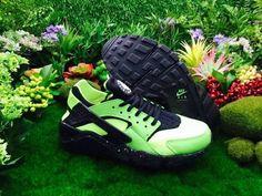 f79885baaf011 Nike Air Huarache Flash Lime Black Poison Green April 2018 New Arrival Black  Huarache