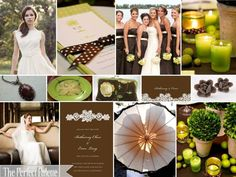 :A Palette of Chartreuse, Chocolate Brown & Ivory