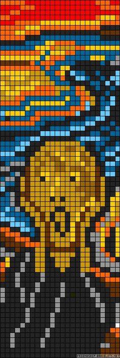Pittura con il computer: The Scream Edvard Munch  perler bead pattern