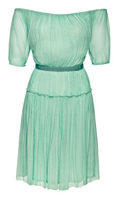 Mint off shoulder dress