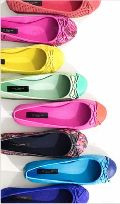 Own the floral and the sea green clorblocked ballet flats! Ann Taylor - Spring Steal!