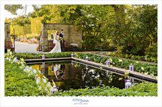 Wedding ceremony at the cleveland botanical gardens