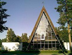 Hailuodon kirkko lännestä katsottuna
