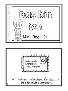 German Mini Book Das Bin Ich
