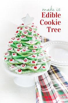 how to make an easy and delicious edible cookie tree christmas