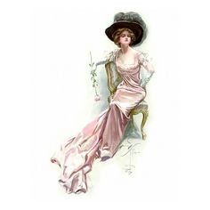 Illustrations by Harrison Fisher ❤ liked on Polyvore featuring victorian, vintage, people, backgrounds and art