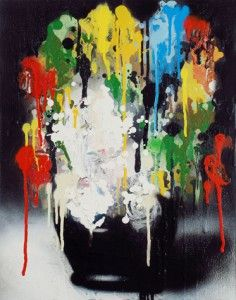 #5, 2013 Spray enamel on wooden panel 18 x 14 inches; 45.7 x 35.6 cm Signed on verso