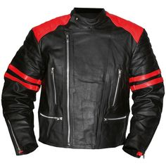 Black leather jacket with red stripes - Google Search