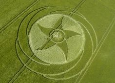 The new symbol in a field in England in a converted from old circle