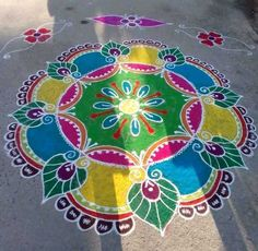 Rangoli Designs Latest, Latest Rangoli, Simple Rangoli Designs Images, Rangoli Designs Flower, Rangoli Border Designs, Rangoli Patterns, Rangoli Ideas, Rangoli Designs Diwali, Rangoli Designs With Dots