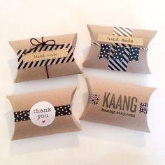 12 blank pillow kraft boxes pillow favor box wedding by kaalen