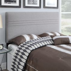 Seamed Upholstered Headboard | from hayneedle.com