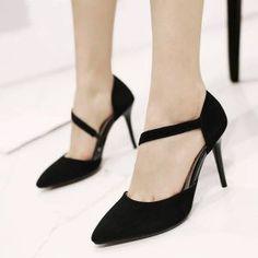 Giày cao gót quai xéo