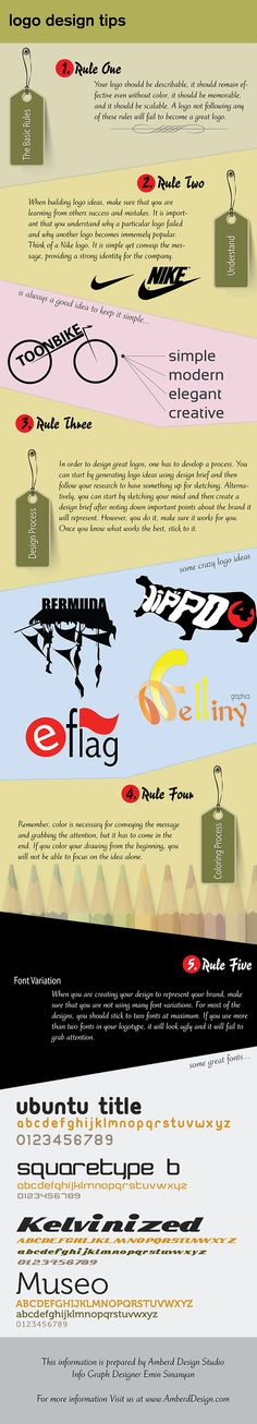 These illustrated Logo Design Tips will help you creating a powerful and modern Logo Designs.