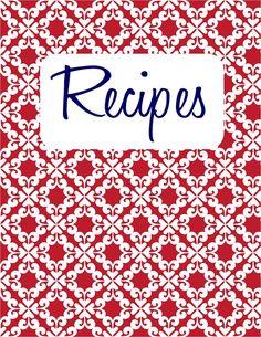 Recipe Binder {free printable} - Tip Junkie