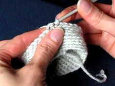 Slip Stitch Crochet, Back loop, tube - Piilosilmukka, s:n takareuna