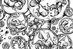 organic patterns black and white - Google Search