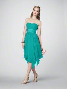 Jade Chiffon Bridesmaid Dress