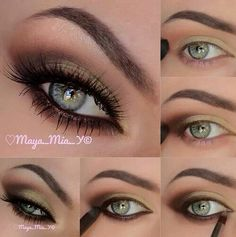 Beautiful cat eye look (without the cat eye eyeliner) and makes green and hazel eyes pop!