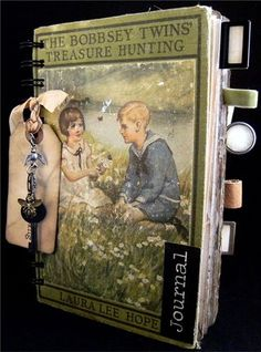 """New Storybook Travel Journal """"Treasure Hunting"""" 10/31/12 Using old book covers to make really unique albums. Lots more examples!"""