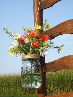 Mason Jar Wedding Decorations- These would be great for aisles, maybe one every other row of chairs.- For more great inspiration visit us at Bride's Book home of the VIB Bridal Club