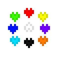 every SOUL Color (that is known {Also hate Soul idk why}) Undertale Souls, Undertale Fanart, Undertale Comic, Pixel Art, Youtubers, Creatures, Fandoms, Fan Art, Wallpapers