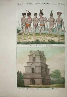 Natives in California Tlillan Tlapallan Mexico Antonelli 1841 | eBay