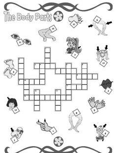 Body Crossword Esta ficha de inglés es un crucigrama de las diferentes partes del cuerpo en inglés