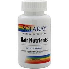 Save with better quality supplements! 120-240 SOLARAY Hair Nutrients (pack 120 Caps Better Quality Save U more  #SOLARAY