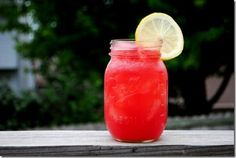 Boozy watermelon lemonade cooler