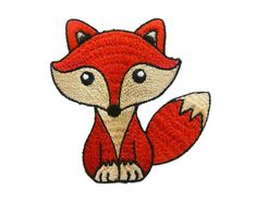 Red Fox Embroidered Applique Iron on Patch