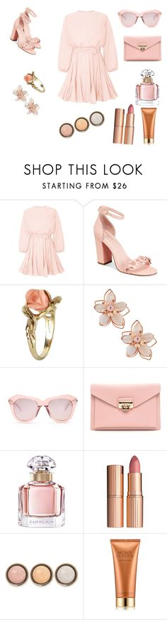 """Untitled #4"" by loversofblack on Polyvore featuring Avec Les Filles, Vintage, NAKAMOL, Karen Walker, Guerlain, Charlotte Tilbury, By Terry and Estée Lauder"