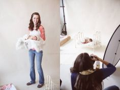Awesome behind the scene images from the ADVANCE Workshop. *Butterfly Positioner featured in set-up www.studiobabys.com
