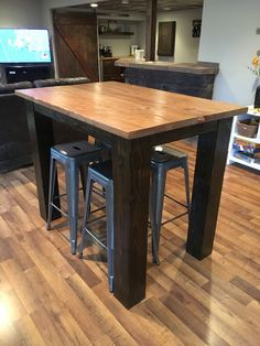 "42"" High Pub Table w/ 6x6 Legs"