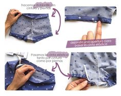 Cubrepañal: ¡El patrón definitivo! Tutorial y patrón gratis Baby Knitting Patterns, Kids Patterns, Sewing For Kids, Baby Sewing, Sewing Clothes, Diy Clothes, Short Bebe, Diaper Cover Pattern, Baby Bloomers