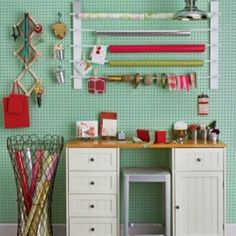 Make space in your home for a holiday wrapping station that will double as a craft space all year long.