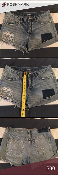 Urban Outfitters BDG Shorts Distressed denim shorts with button closures Urban Outfitters Shorts Jean Shorts