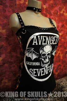 Avenged Sevenfold DIY Tank Top S Heavy Metal Rock Band T-shirt altered to women's sexy top A7X 99