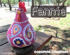 New flock of Gossiping Paisley Chickens available this week on Etsy!