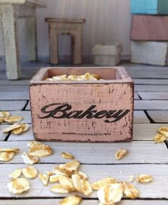 Dollhouse wooden crate miniature bakery crate by DewdropMinis Dollhouse Accessories, Garden Accessories, Handmade Market, Etsy Handmade, Dollhouse Furniture, Vintage Dolls, Dollhouse Miniatures, Hand Stamped, Crates