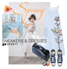 """""""Sporty Chic: Sneakers and Dresses"""" by mariapia65 ❤ liked on Polyvore featuring Mira Mikati, Converse, Fendi and SNEAKERSANDDRESSES"""