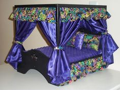canopy dog bed dog canopy bed by crossbonedog on etsy Puppy Beds, Pet Beds, Doggie Beds, Baby Beds, Dog Furniture, Pallet Furniture, Princess Dog Bed, Diy Dog Bed, Diy Canopy