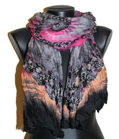 Great Mother`s Day Gift!   Spring Fashion Scarf  Gray Unique Scarf  Ash by CRAZYSPIRIT, $15.00