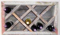 Reclaimed Barn Wood Wine Rack. $300.00, via Etsy.