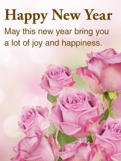 Send Free Beautiful Pink Rose Happy New Year Card to Loved Ones on Birthday & Greeting Cards by Davia. It's free, and you also can use your own customized birthday calendar and birthday reminders. Happy New Year Sister, Happy New Year Message, Happy New Year Images, Happy New Year Quotes, Happy New Year Cards, Happy New Year Greetings, Happy Wishes, Happy New Year 2018, New Year Greeting Cards