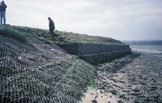 Stainless steel wire gabions used for coastal management