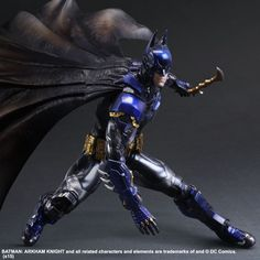 Batman Dons a Blue and Gold Batsuit for Limited Edition Arkham Knight Play Arts Kai Action Figure